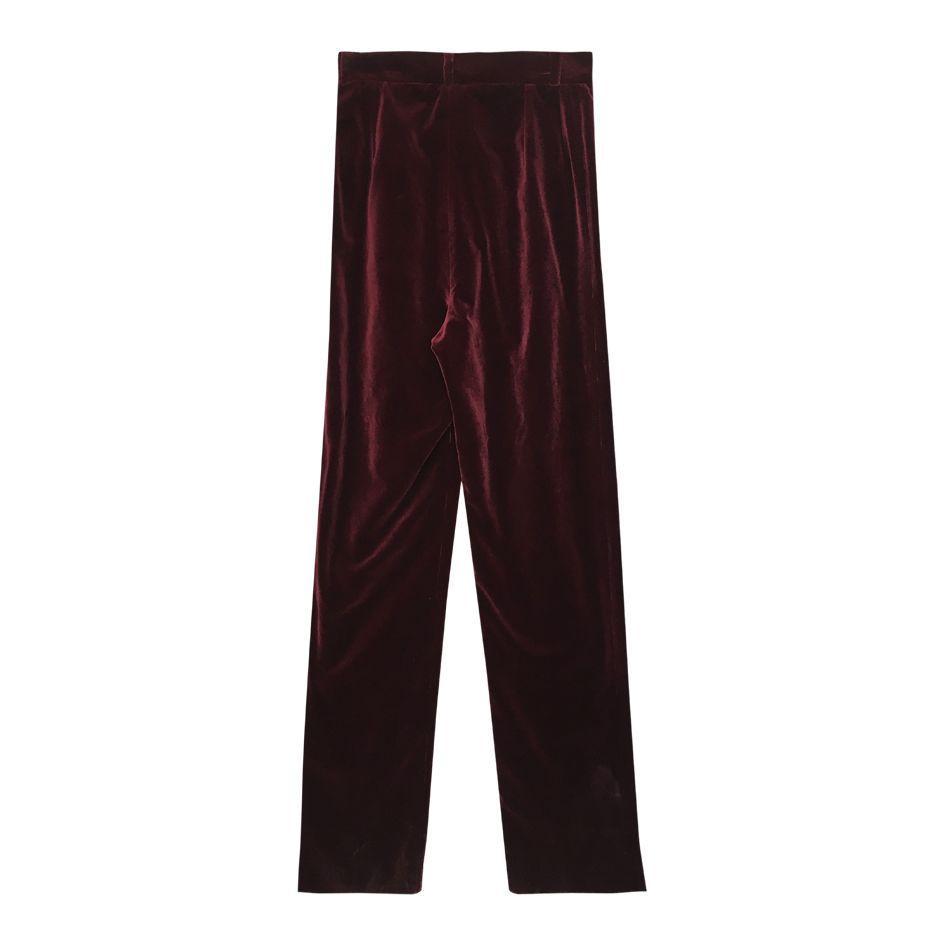 Pantalons - Flare en velours bordeaux