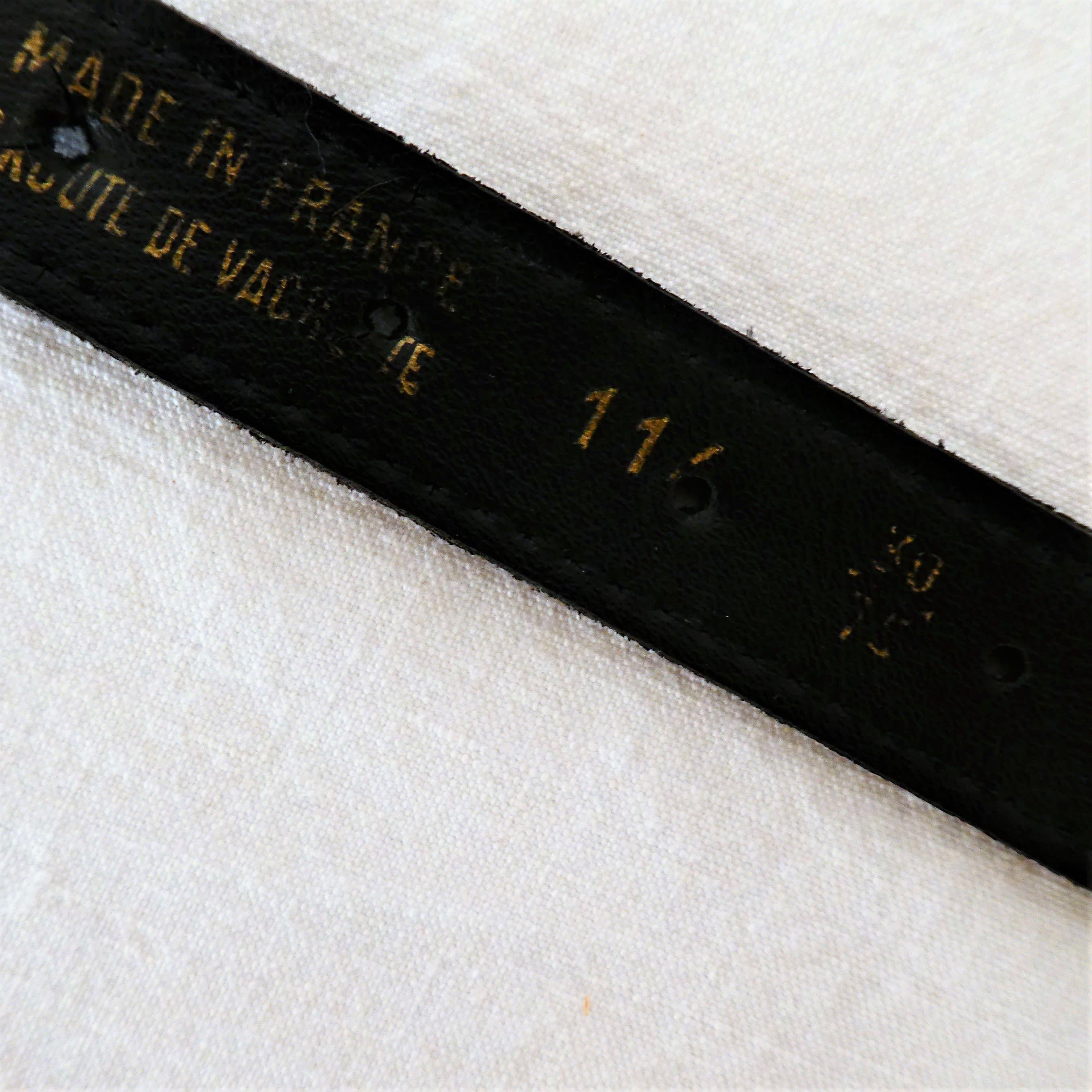 Accessoires - Ceinture cuir et métal