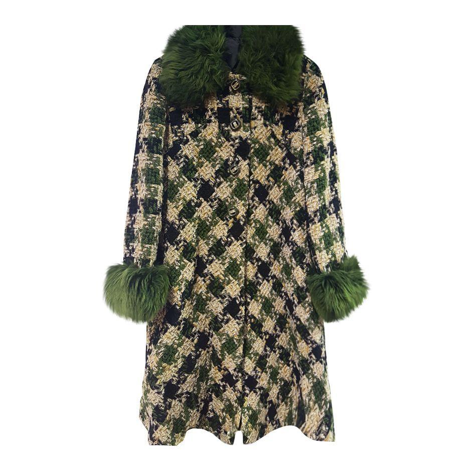 Manteaux - Manteau tweed et fourrure