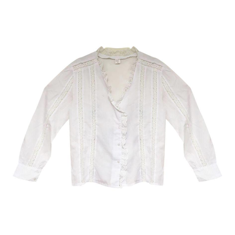 Tops - Embroidered white shirt