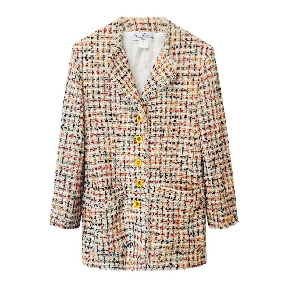 Vestes - Blazer en tweed