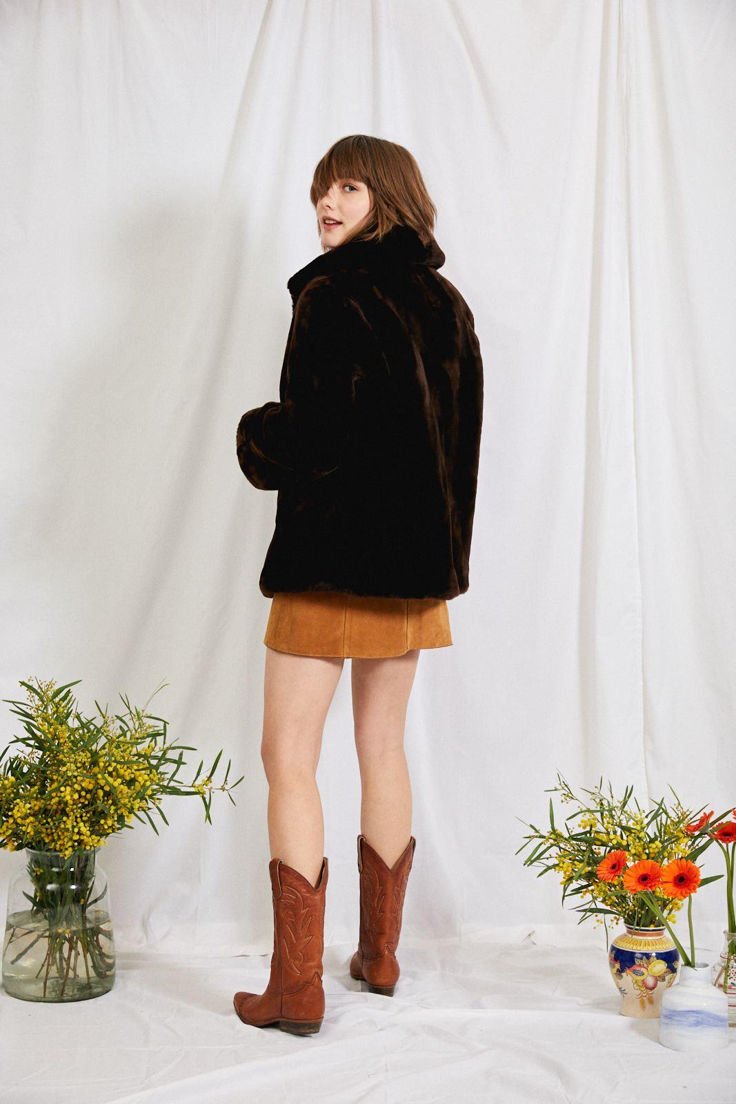 Manteaux - Manteau mouton doré