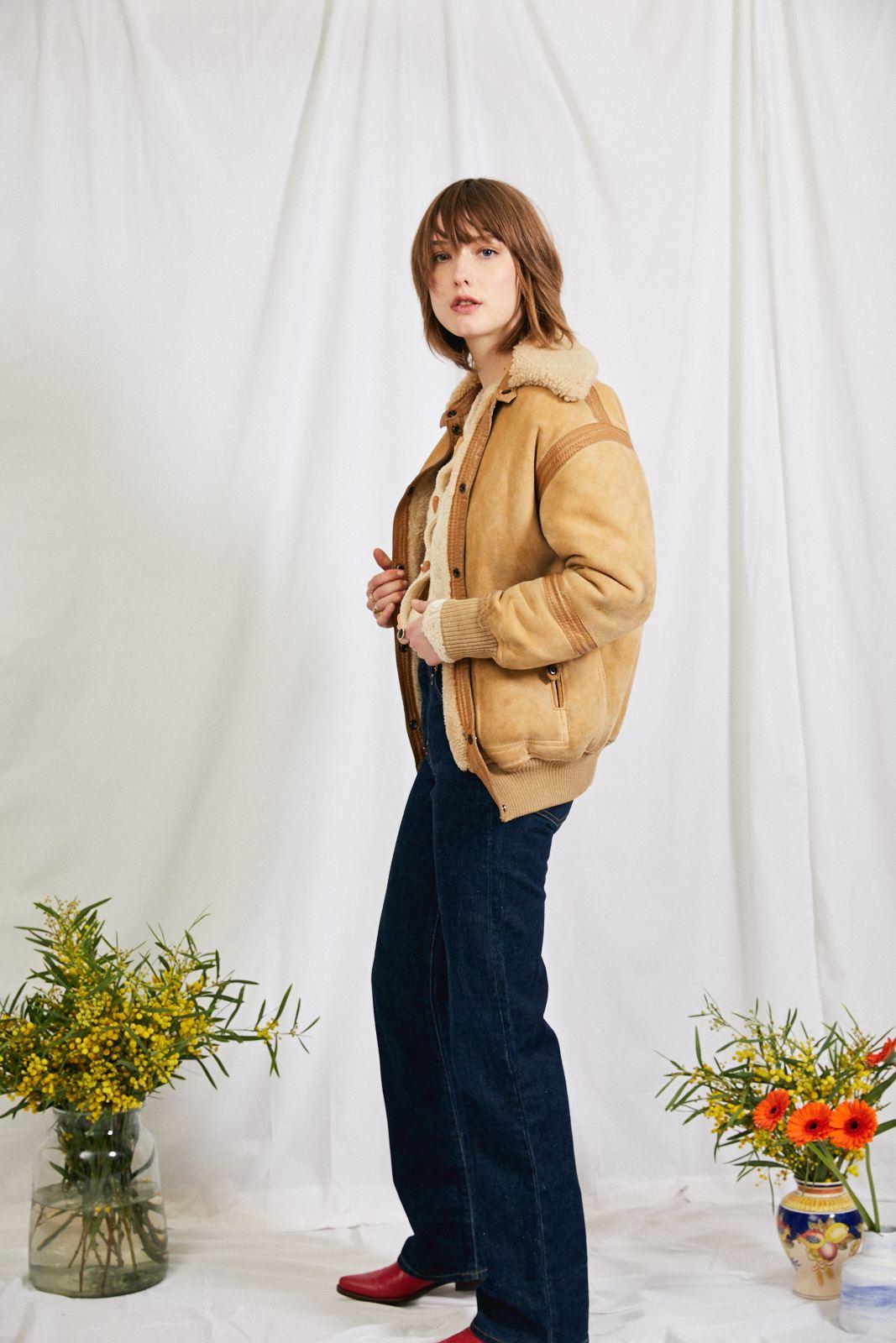 Manteaux - Veste peau lainée