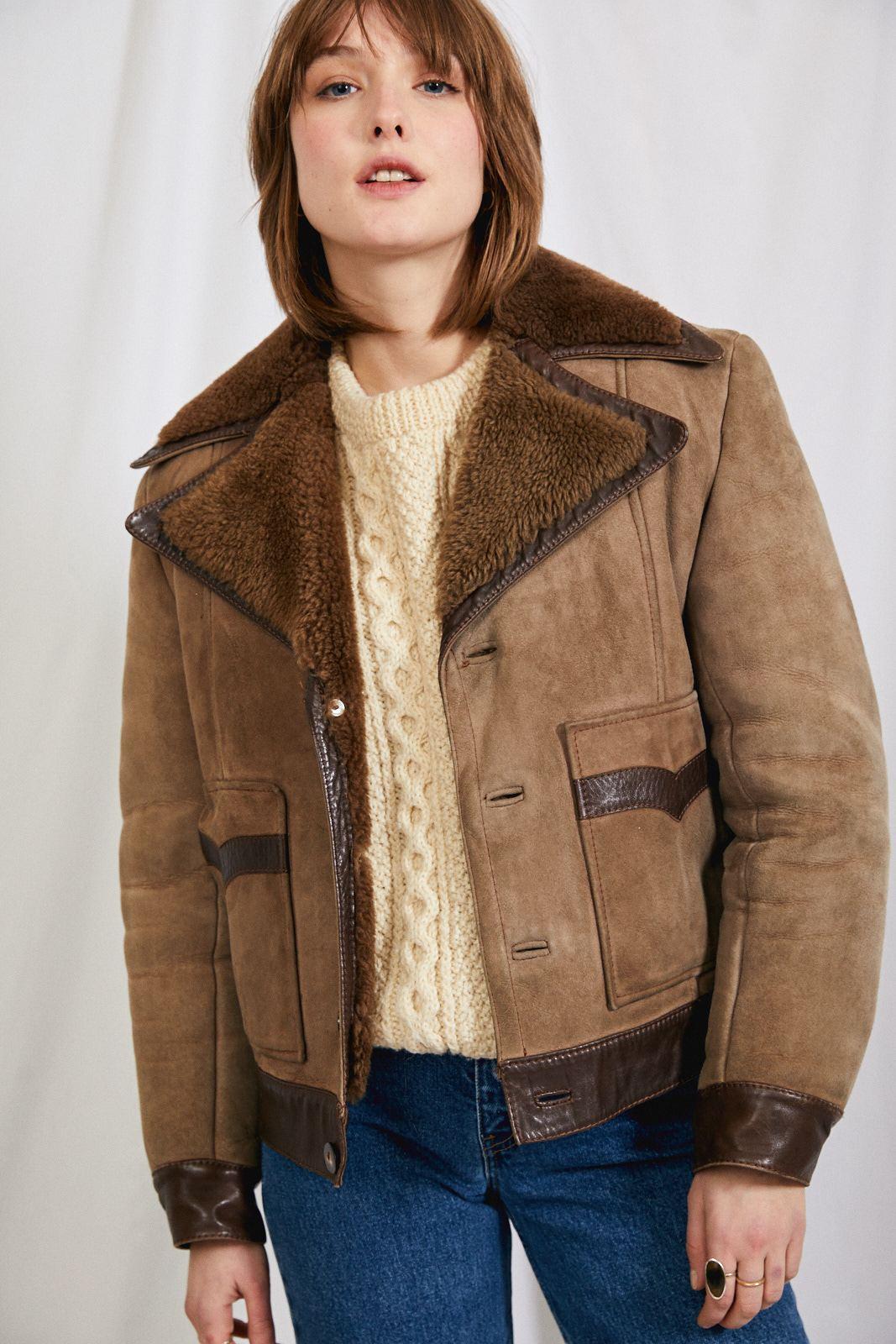 Manteaux - Blouson peau lainée