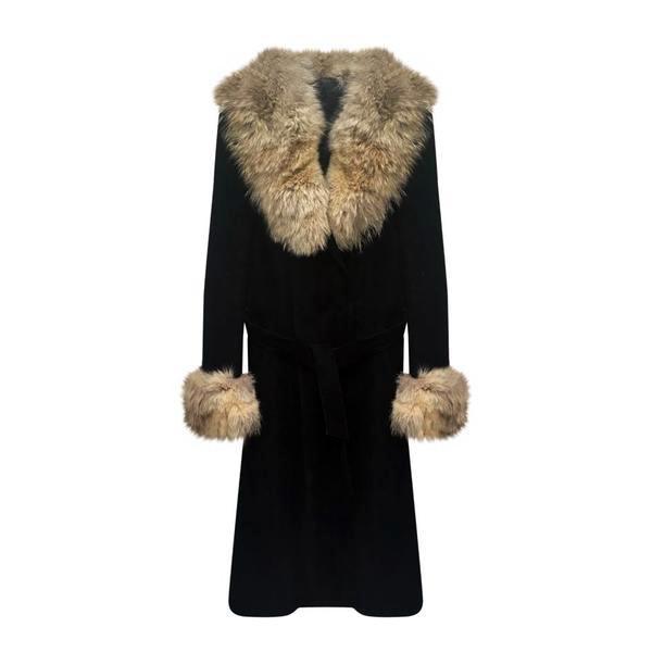 Manteaux - Manteau en daim et fourrure