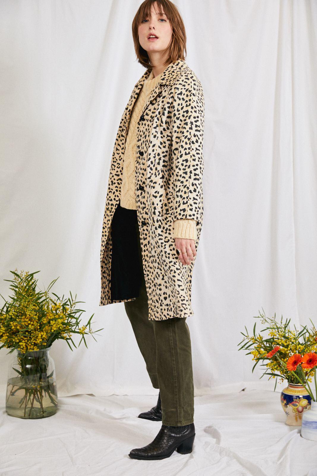 Manteaux - Trench léopard