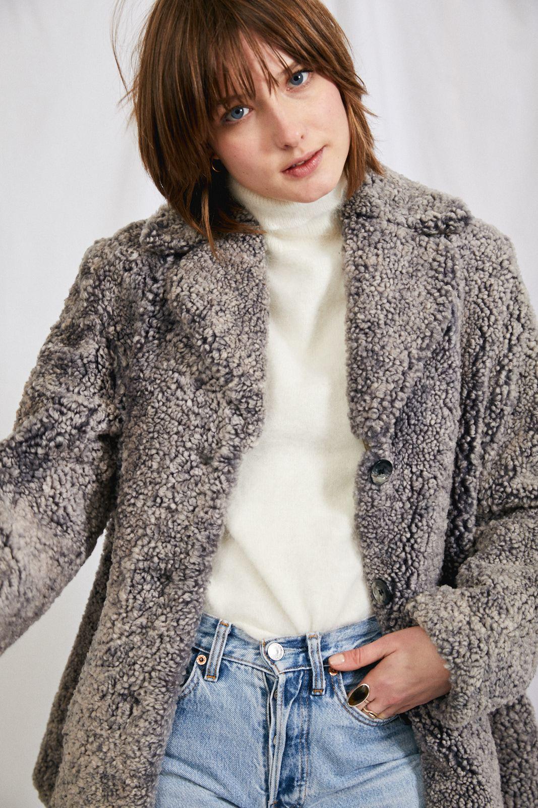 Manteaux - Manteau en mouton bouclé