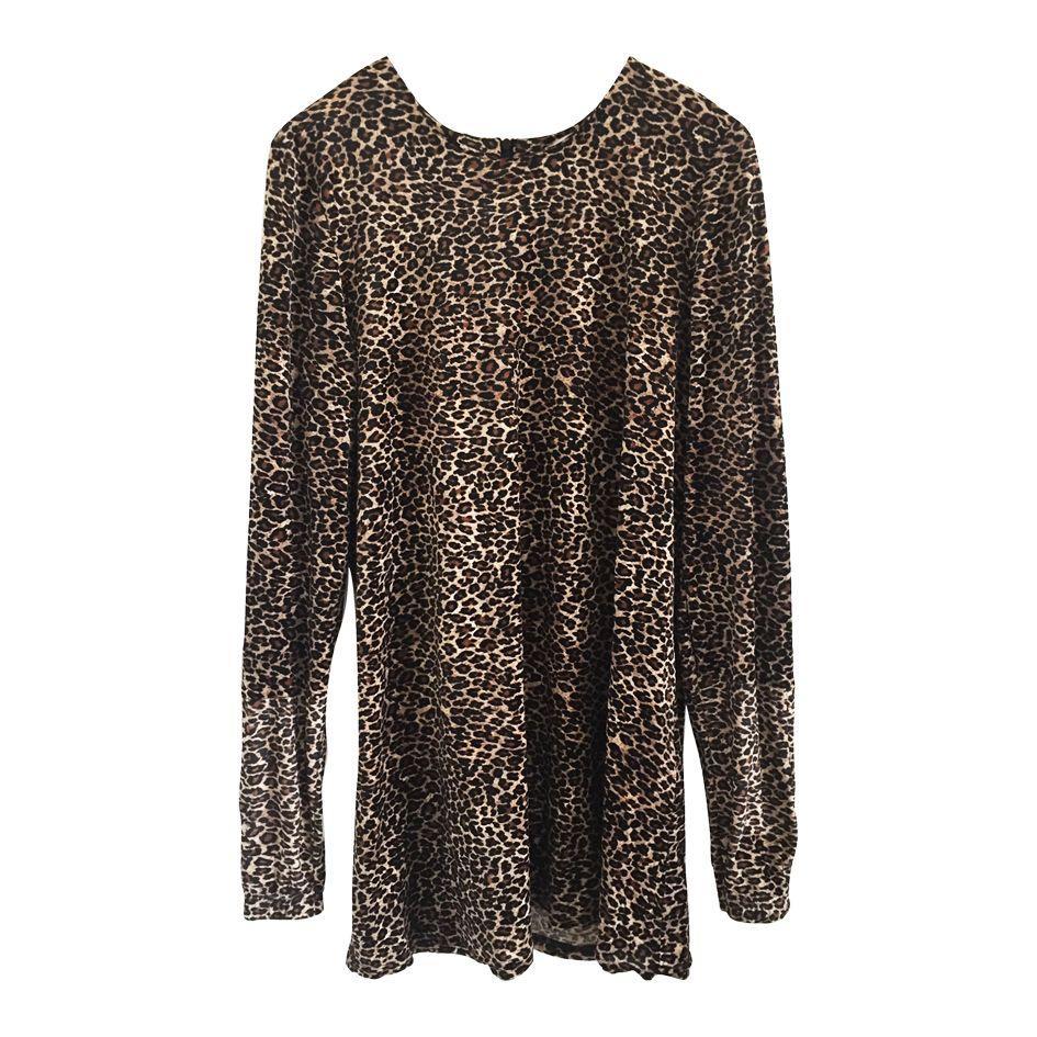 Robes - Robe velours léopard