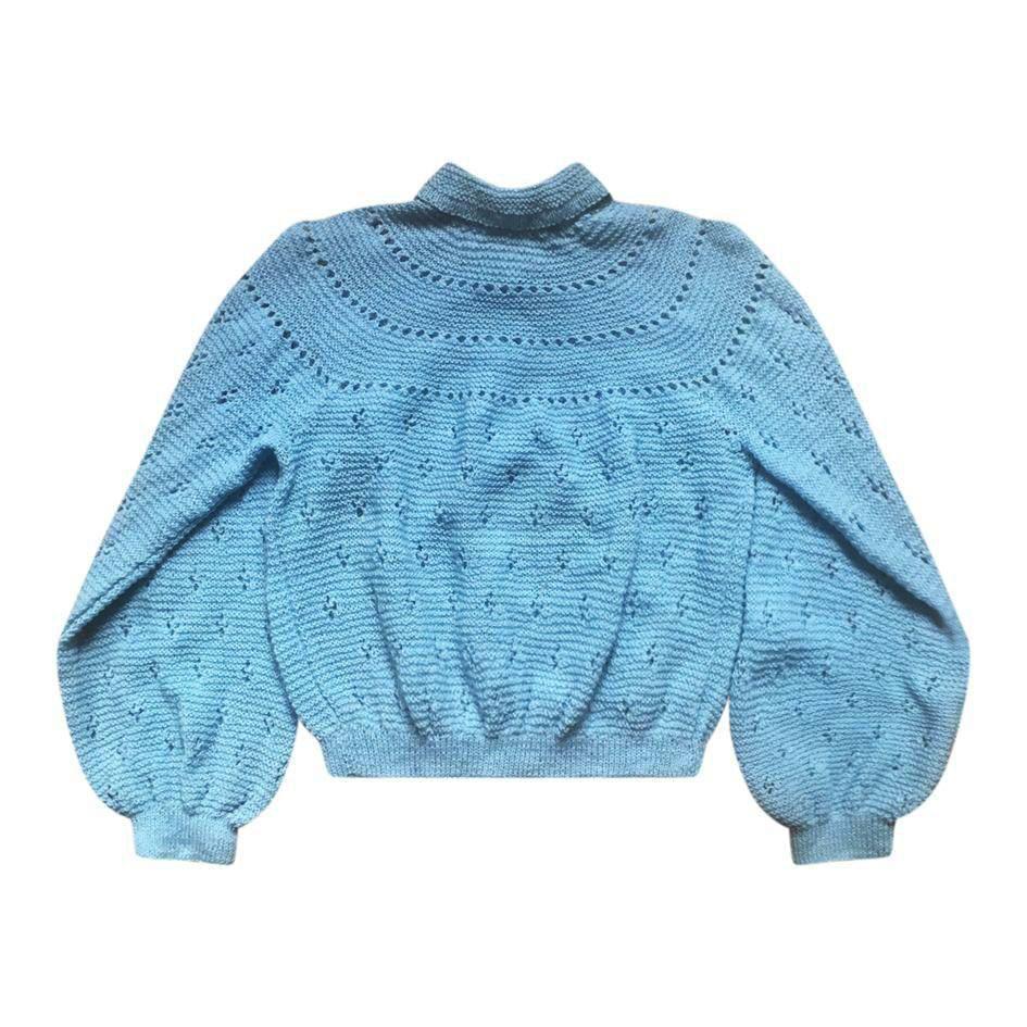 Pulls - Cardigan bleu ciel