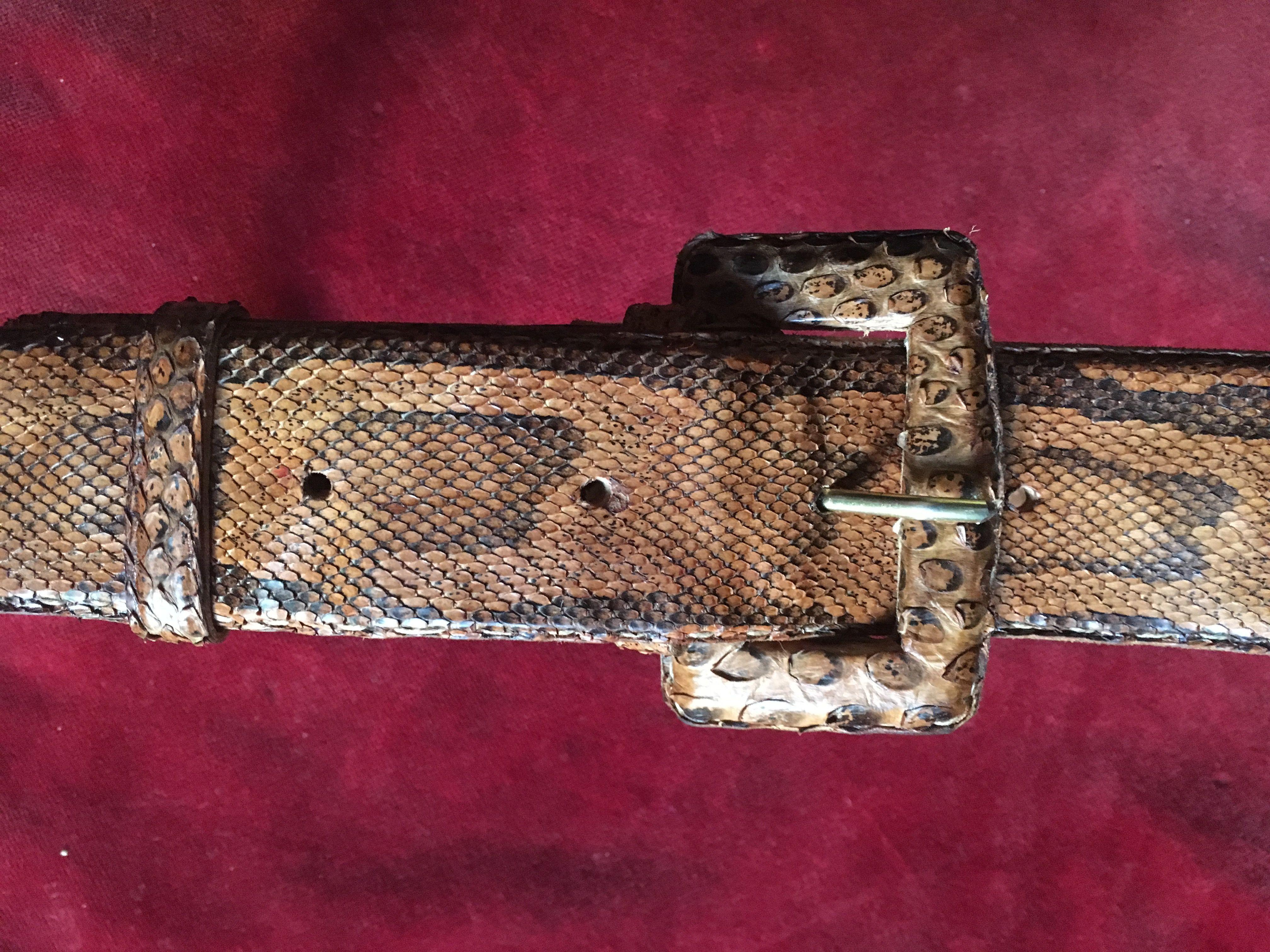 Accessoires - Ceinture en python