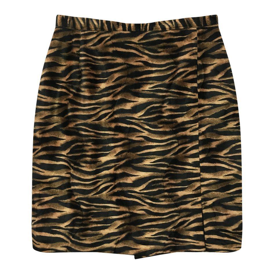 Jupes - Jupe tigre fendue