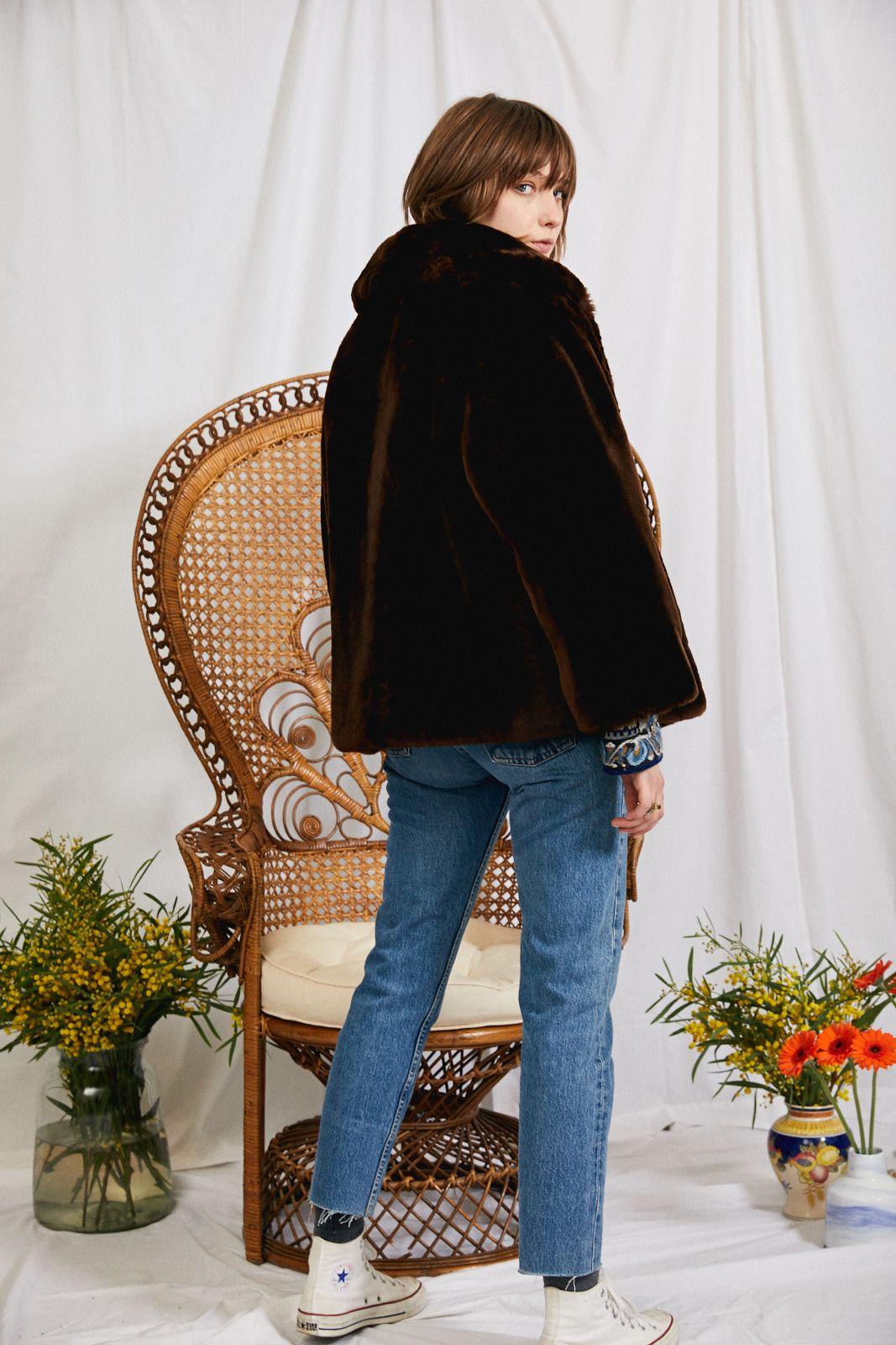 Manteaux - Veste en mouton doré