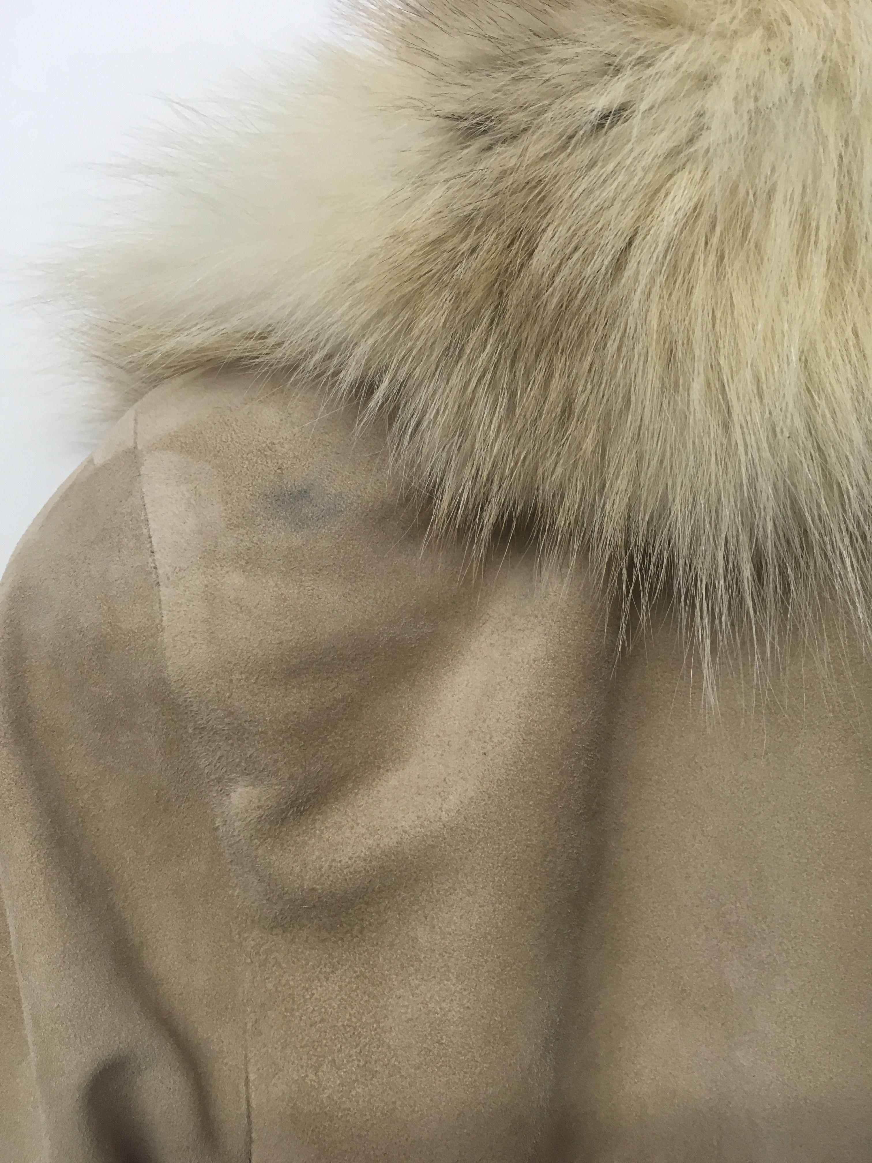 Manteaux - Manteau daim et fourrure