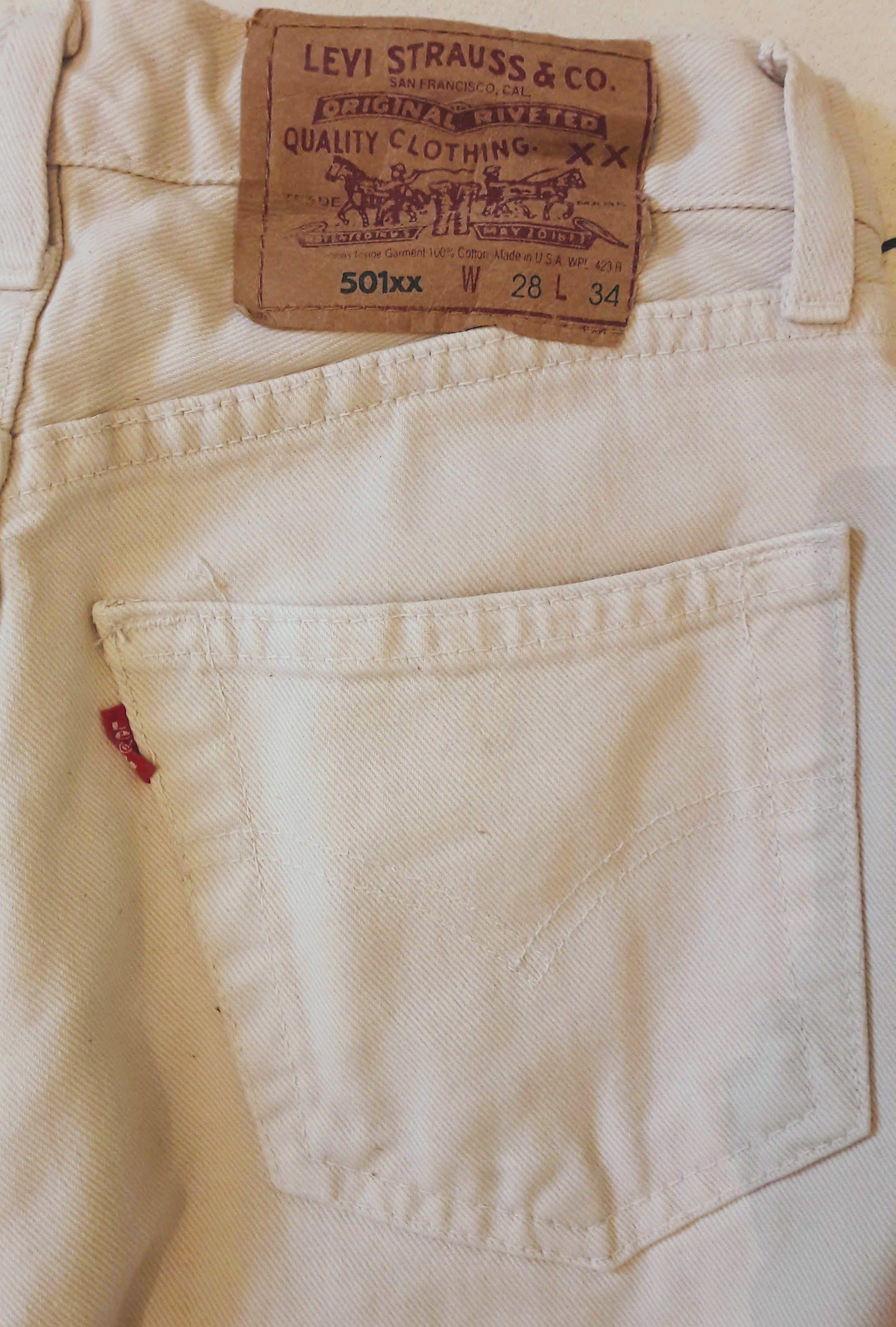 Pantalons - Jean Levi's 501 crème W28L34