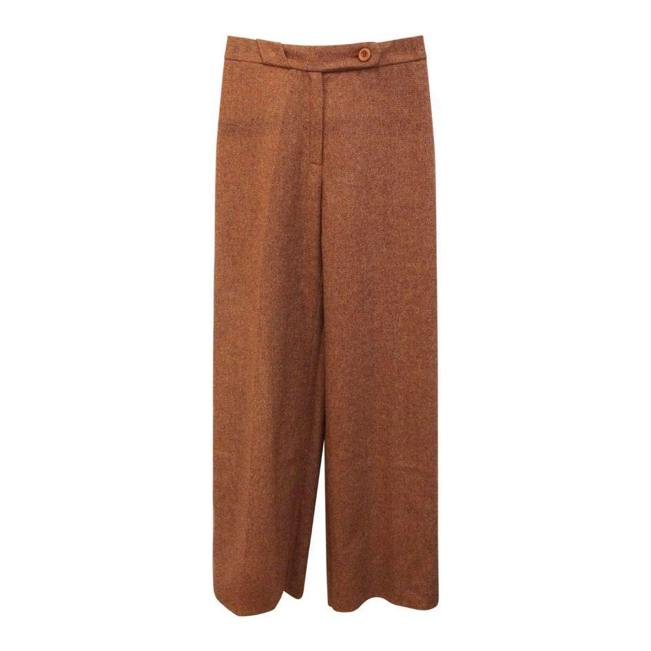 Pantalons - Flare en tweed