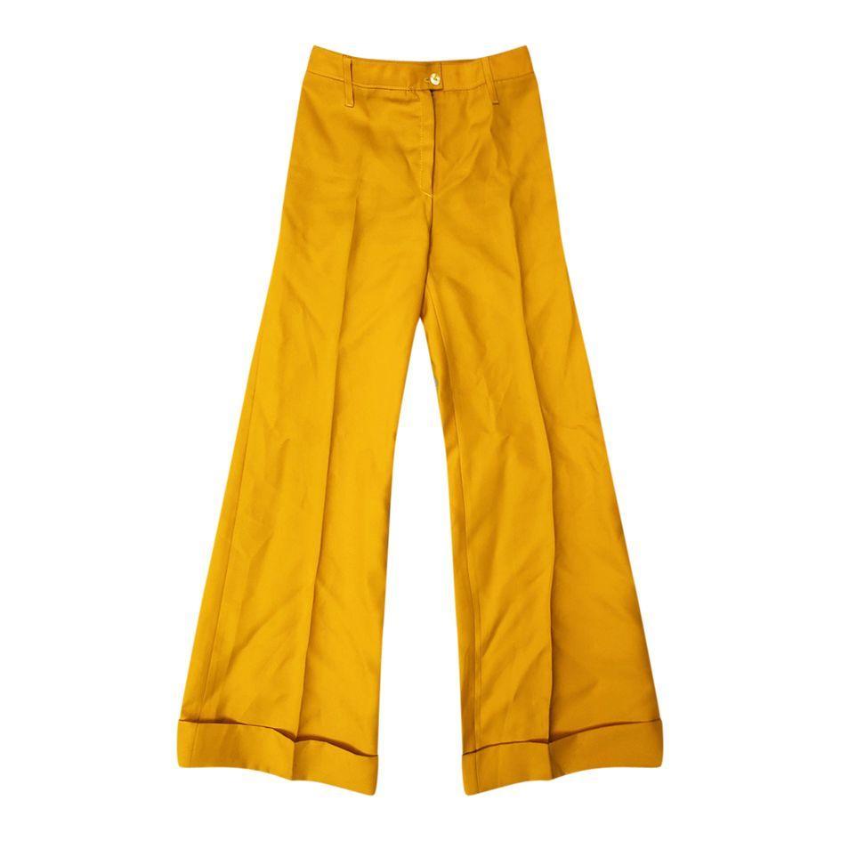 Pantalons - Flare jaune