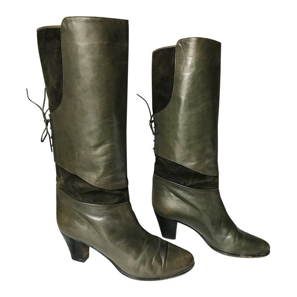 Accessoires - Bottes cuir et daim