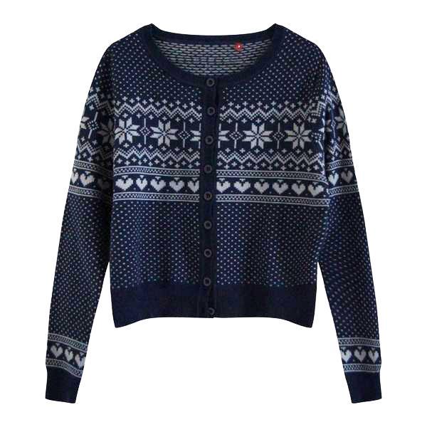 Pulls - Cardigan motifs norvégiens