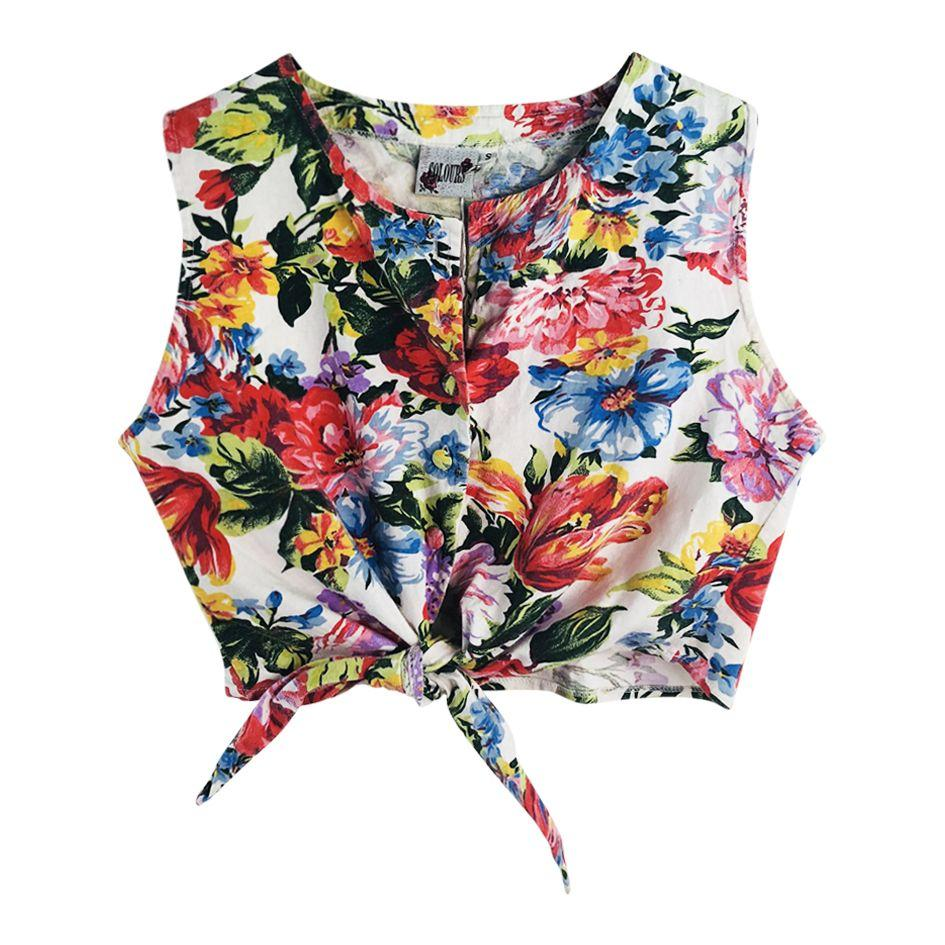Tops - Top à fleurs