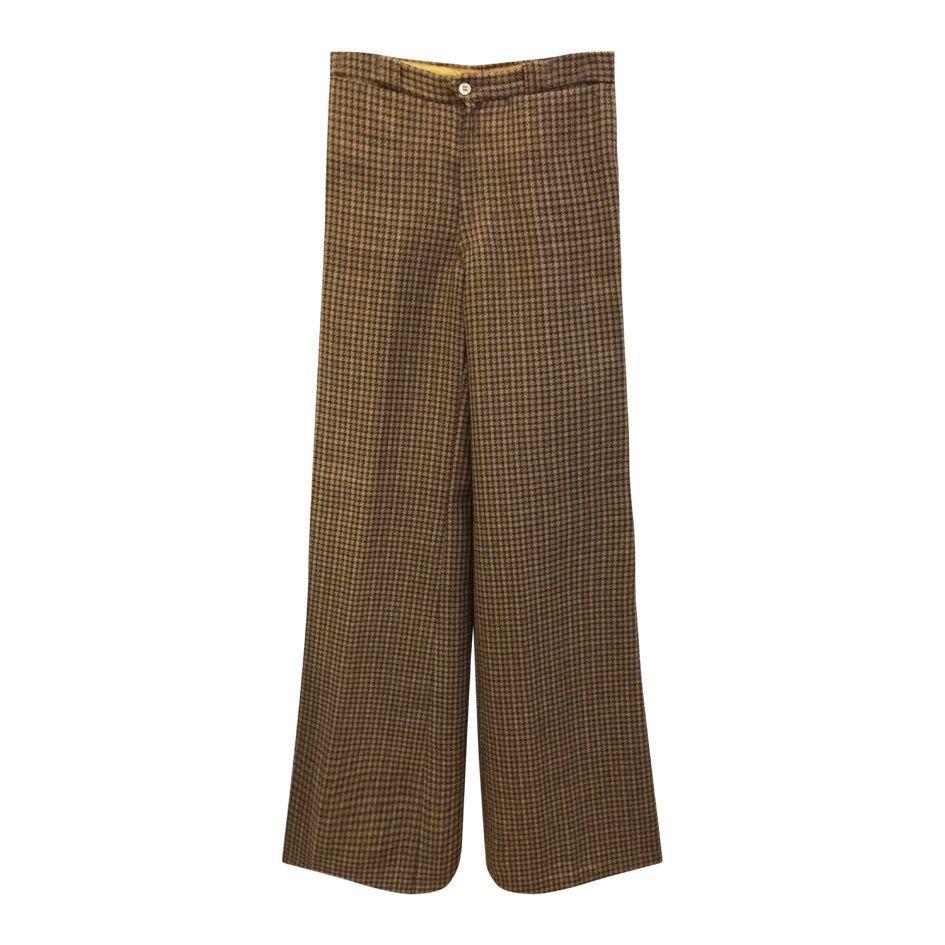 Pantalons - Flare à carreaux