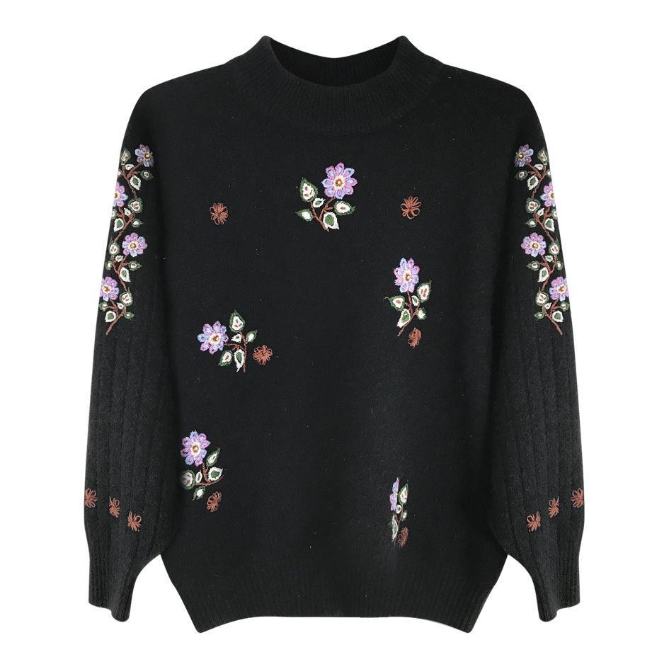 Pulls - Pull à fleurs