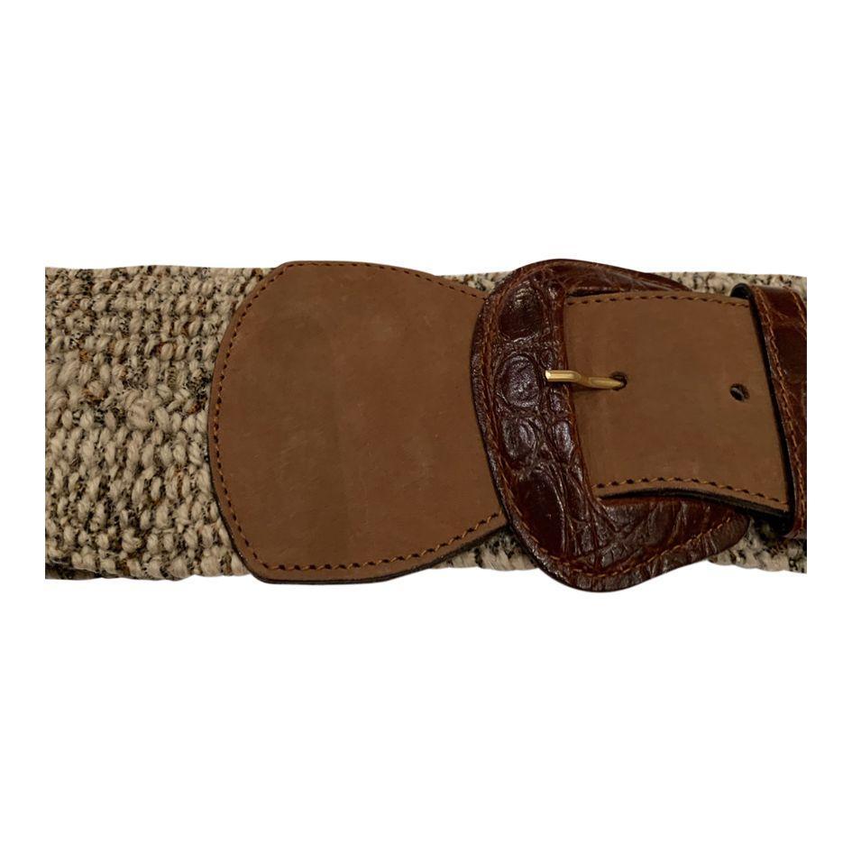 Accessoires - Ceinture lainage et cuir