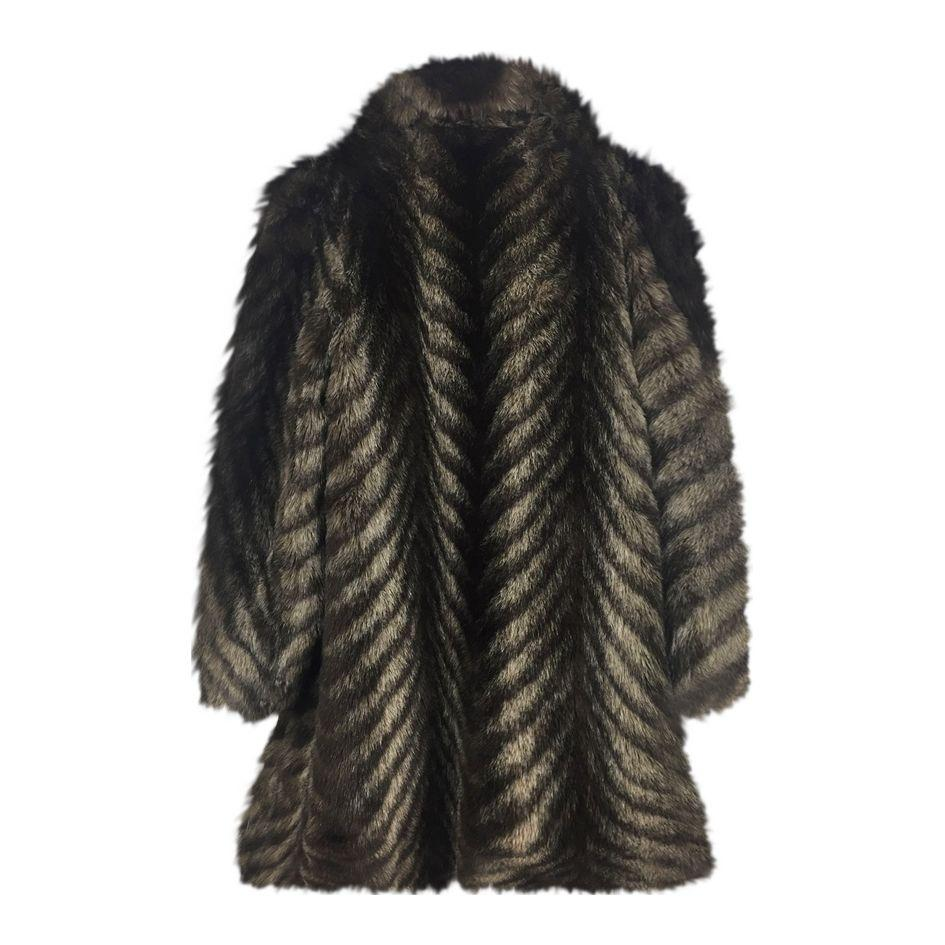 Manteaux - Manteau en fausse fourrure