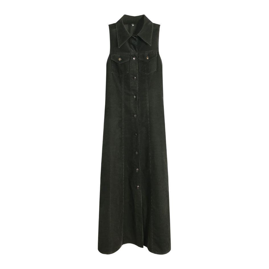 Robes - Robe en velours côtelé
