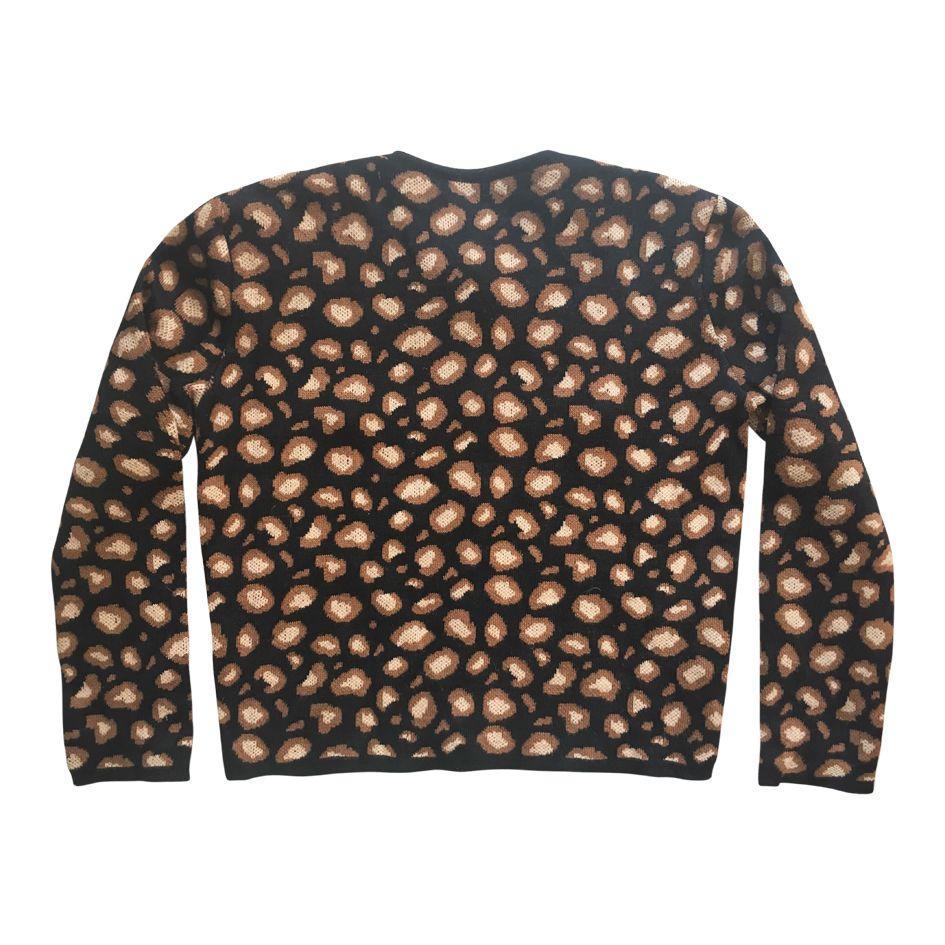 Cardigan léopard