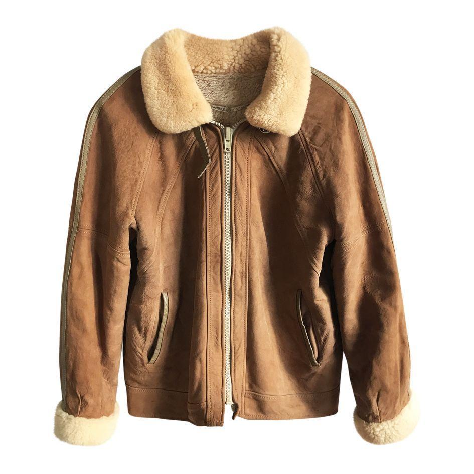 Manteaux - Blouson en peau lainée
