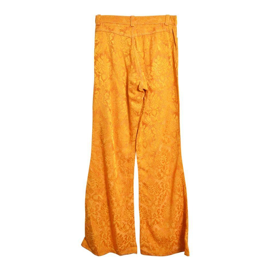Pantalons - Flare à fleurs