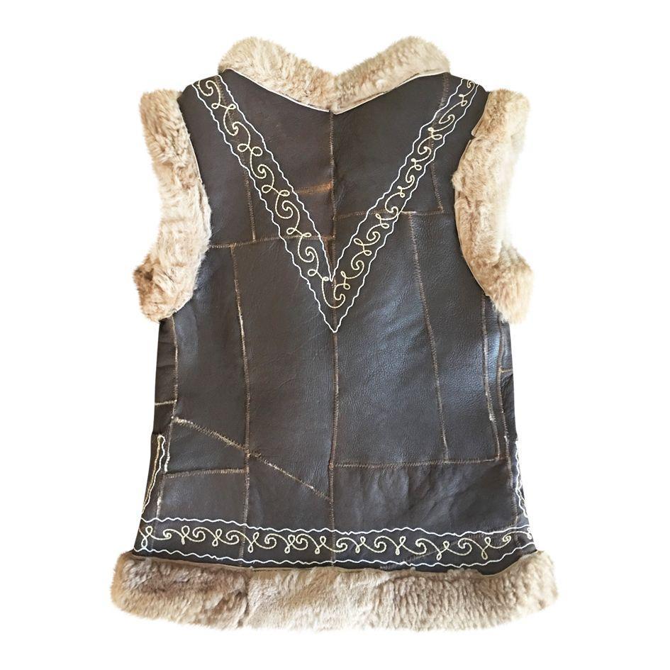 Vestes - Gilet peau lainée