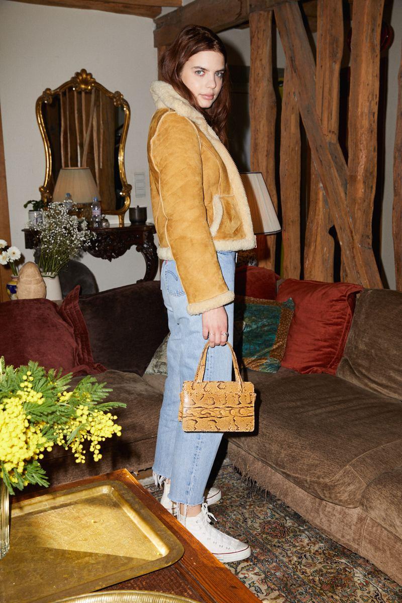 Vestes - Blouson en peau lainée