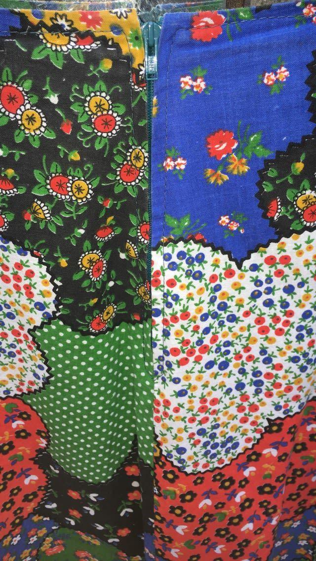 Jupes - Jupe patchwork à fleurs