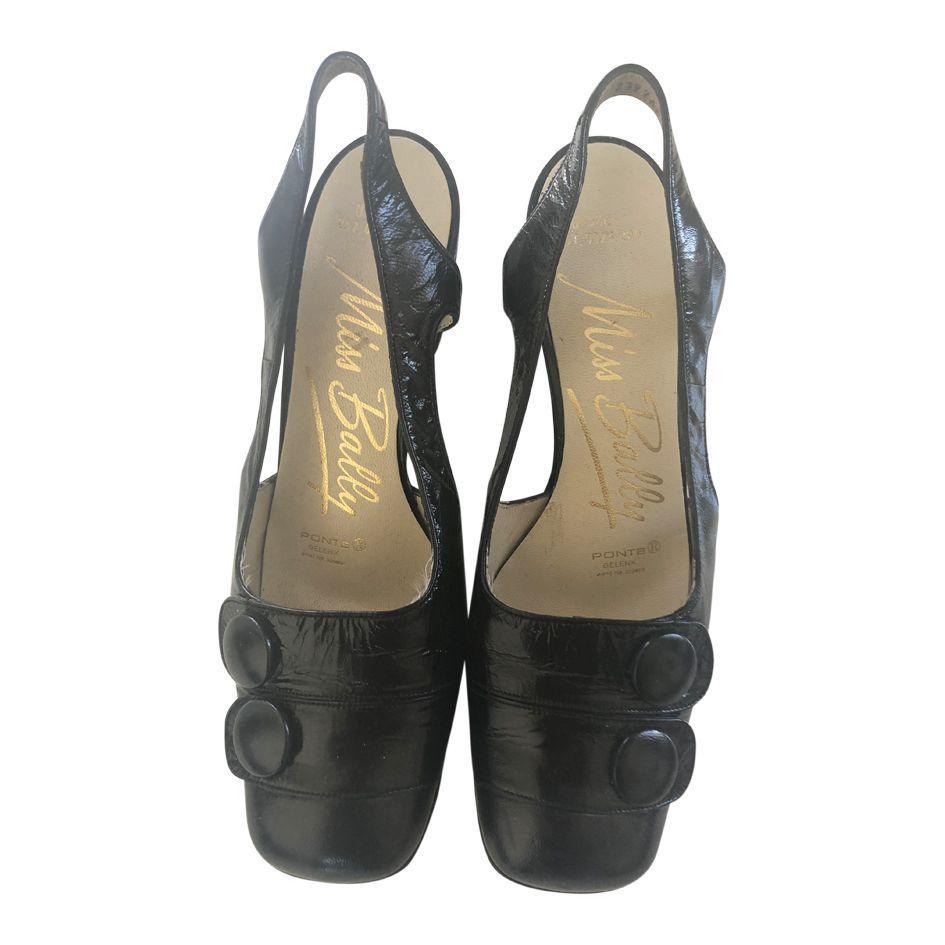 Sandales en cuir vernis