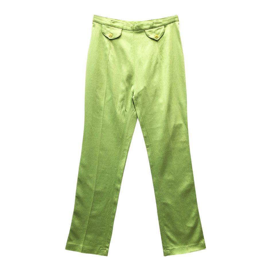 Pantalons - Pantalon vert anis