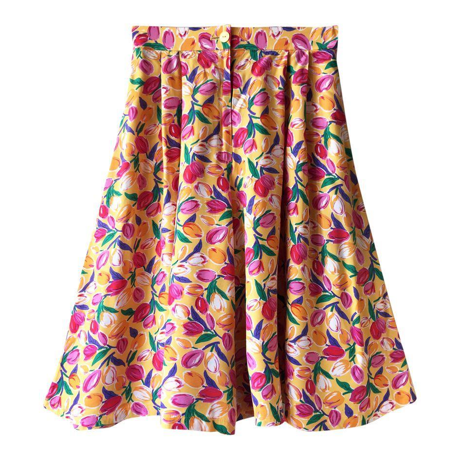 Jupes - Jupe culotte à fleurs