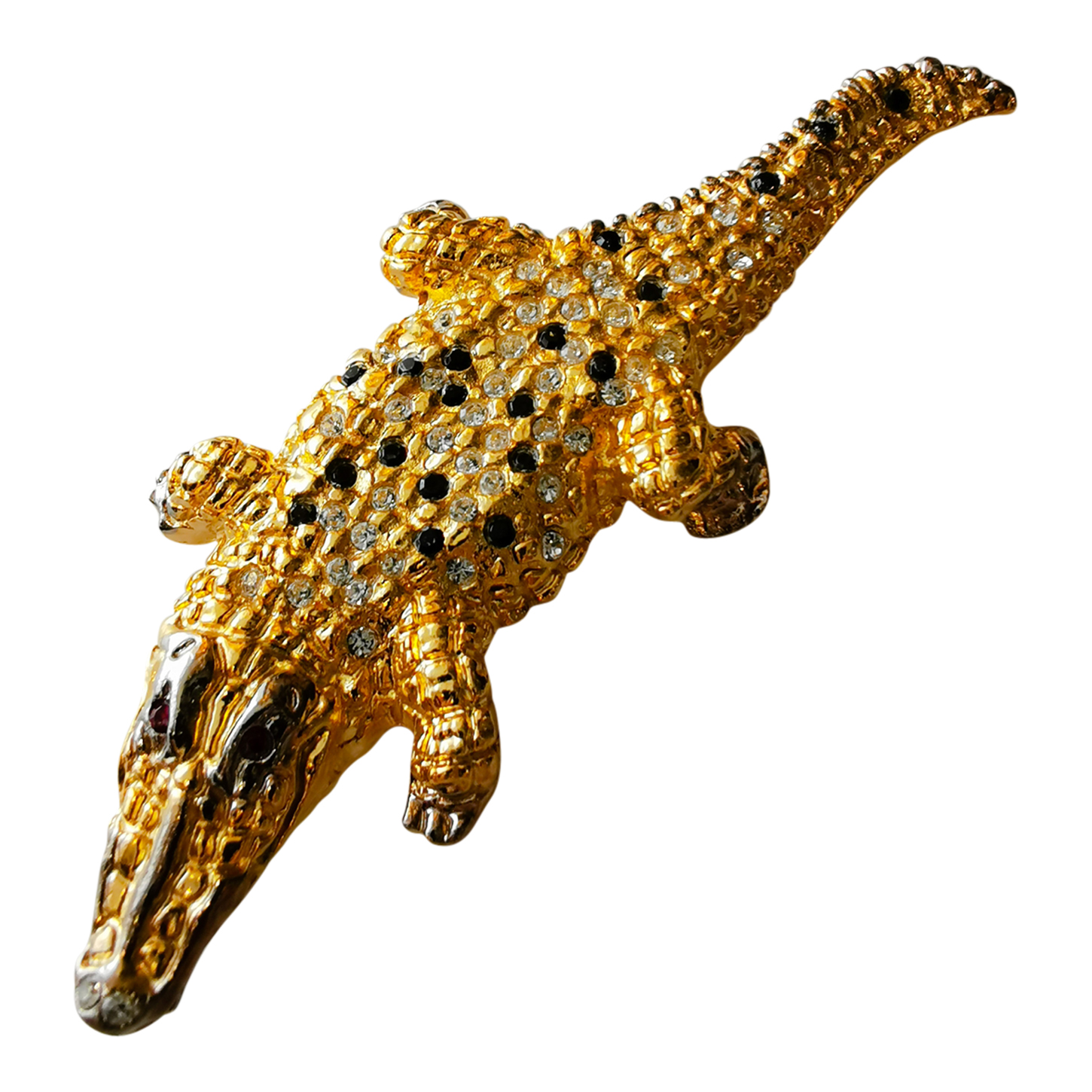 Broche crocodile