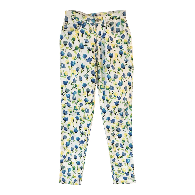 Pantalon à fleurs Versace