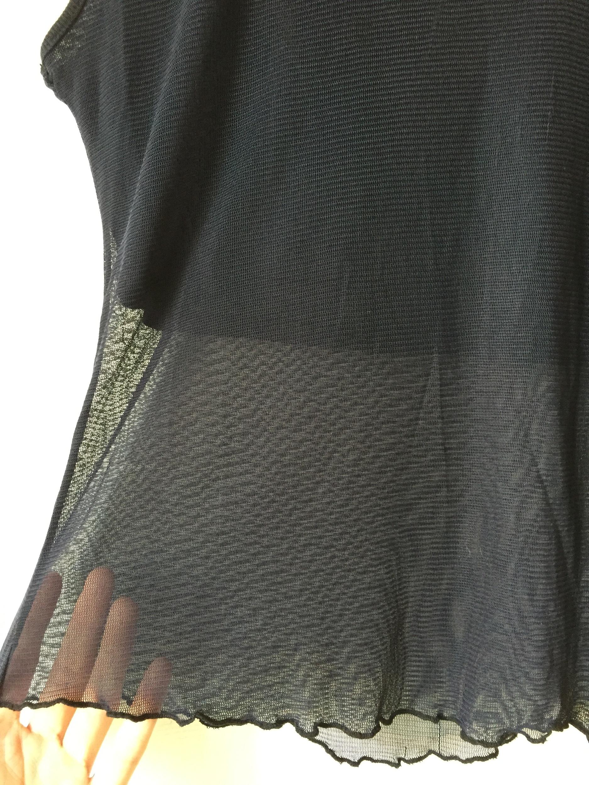 Top semi transparent