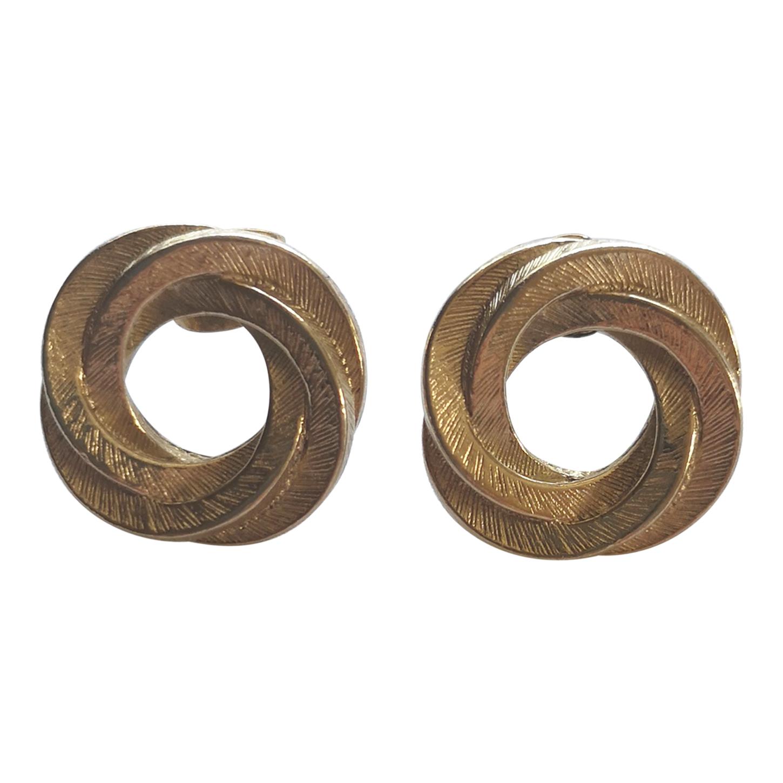 Boucles d'oreilles en métal doré