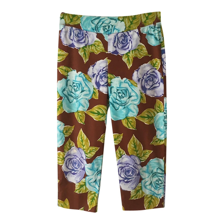 Pantalon court à fleurs