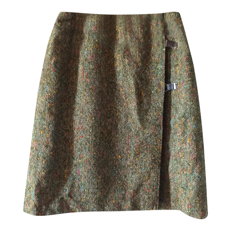 Jupe portefeuille en tweed
