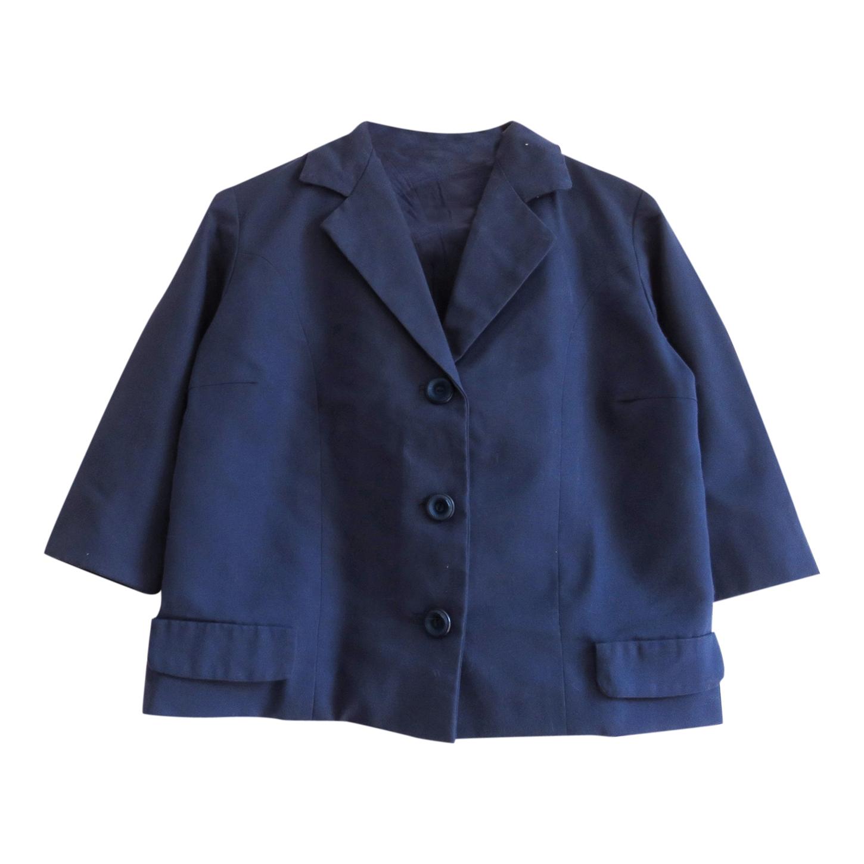 Veste de blazer bleu roi fait main. Manc