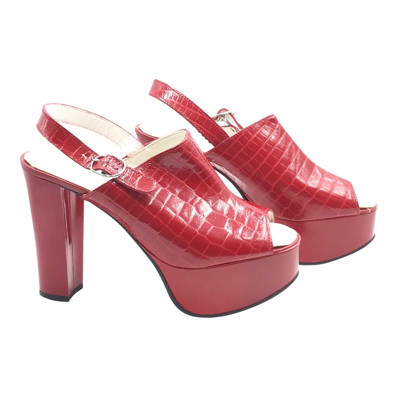 Sandales en cuir à plateforme