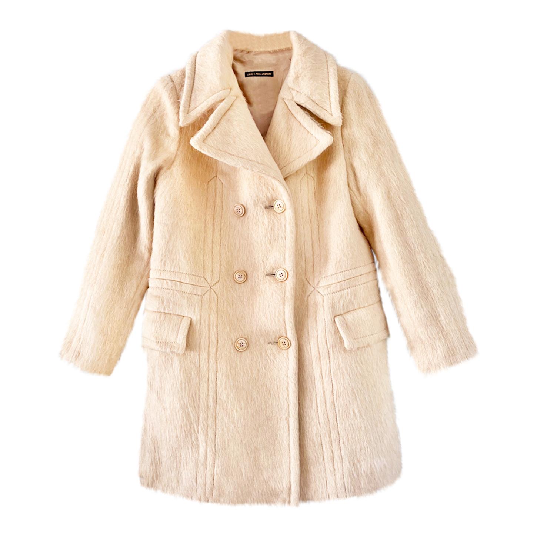 Manteau croisé écru
