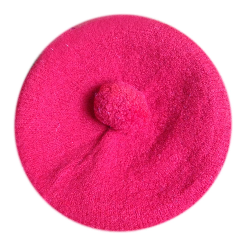 Béret en laine à pompon
