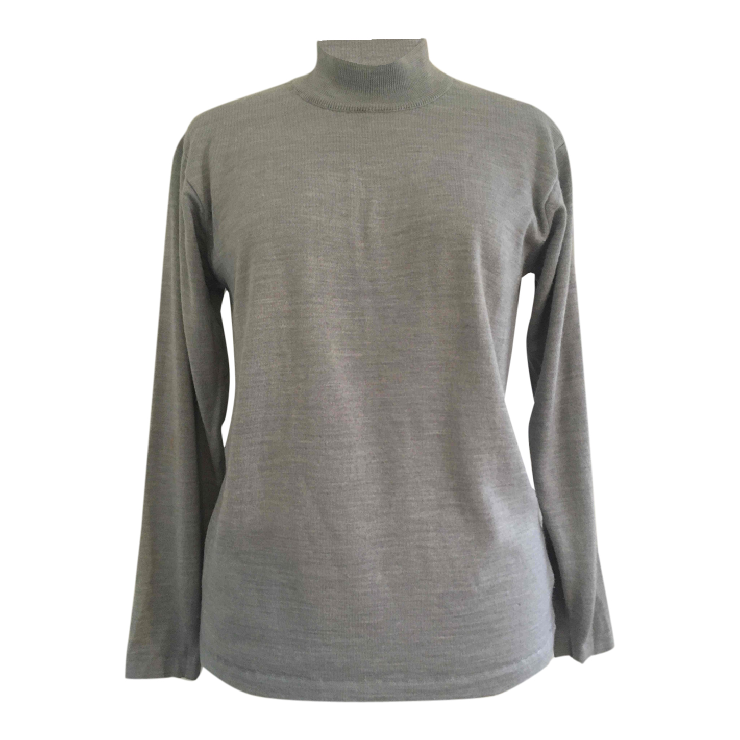 Pull gris col cheminé