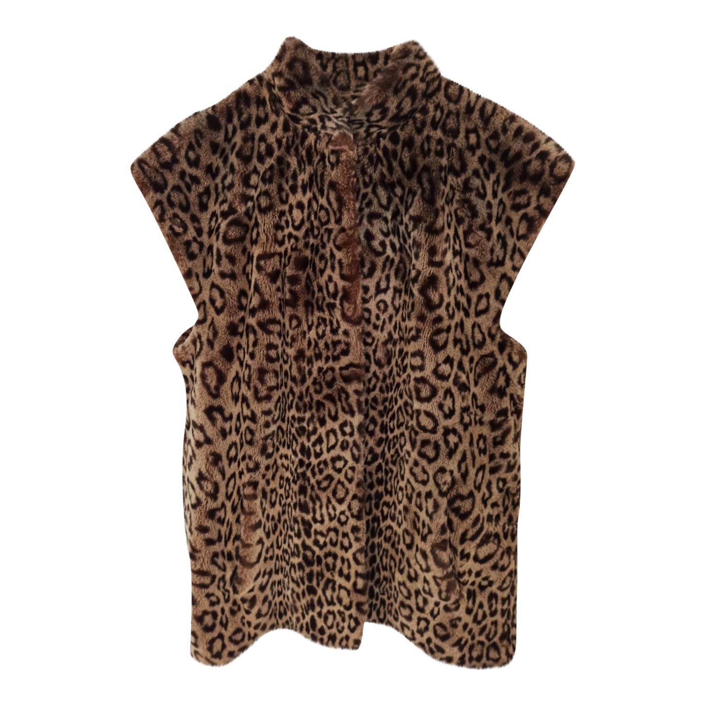 Veste sans manches léopard