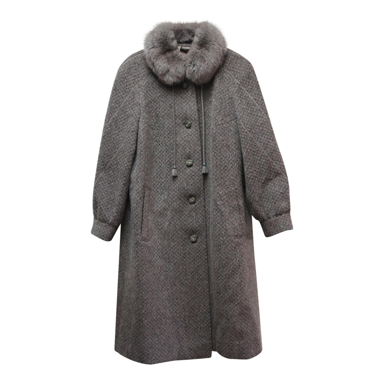 Manteau en laine et mohair